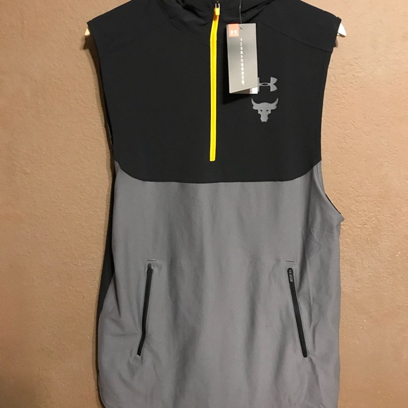 70bf6a918181bf Under Armour Project Rock Vanish Sleeveless Hoodie
